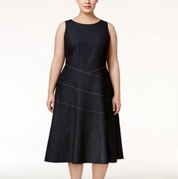 Calvin Klein Dresses Plus Size Aline Dress Poshmark